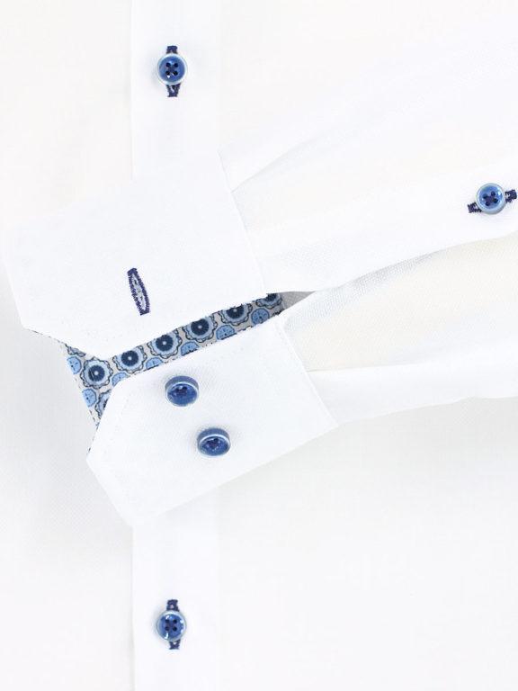 Venti overhemd wit strijkvrij modern fit kent boord 103497100-000 (1)