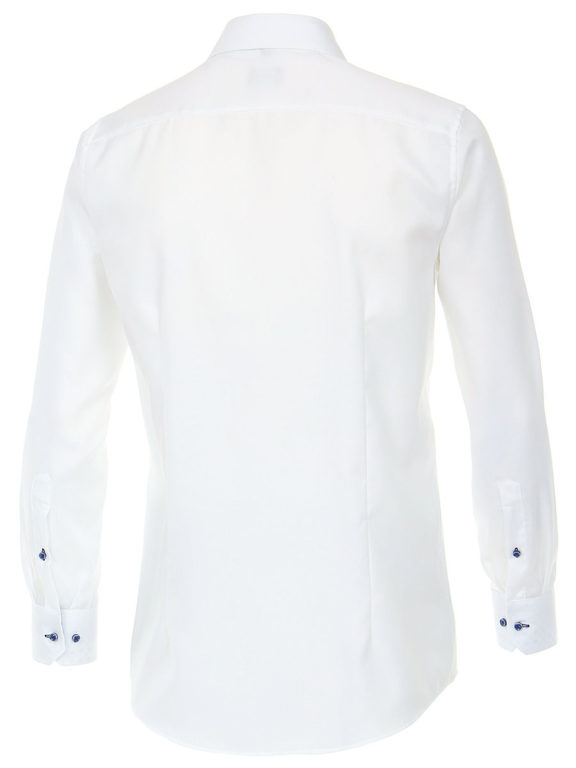 Venti overhemd wit strijkvrij modern fit kent boord 103497100-000 (3)