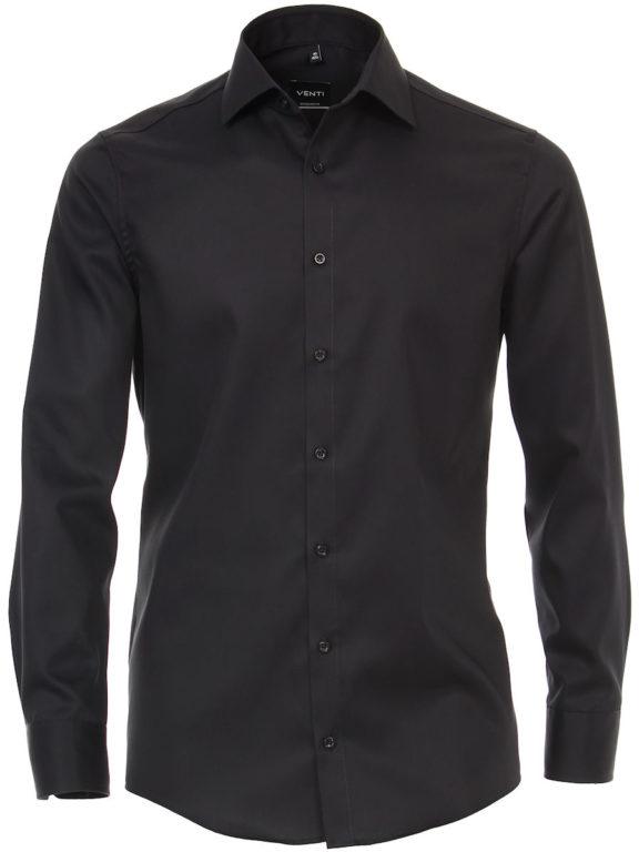 Venti overhemd zwart basis kent boord heren 001880-800 (2)