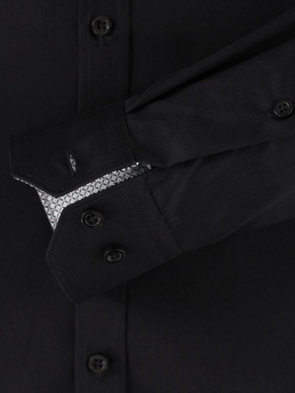 Venti overhemd zwart kent boord heren 193295600-800 (1)