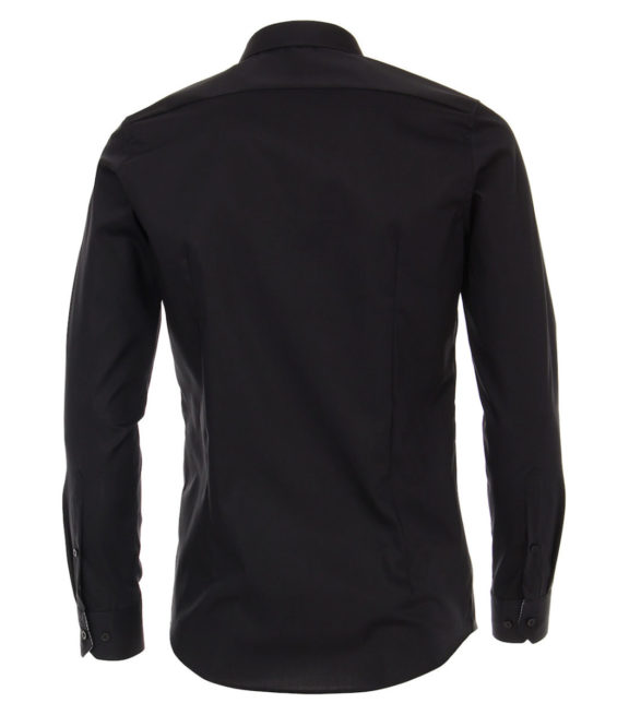 Venti overhemd zwart kent boord heren 193295600-800 (3)