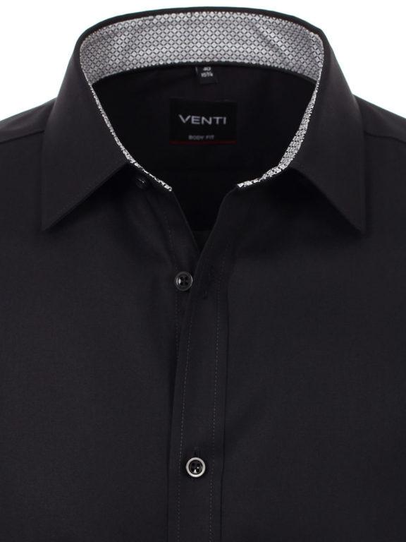 Venti overhemd zwart kent boord heren 193295600-800 (4)