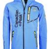 Canadian Peak Softshell jas Kobalt blauw Tubis afneembare kraag (2)
