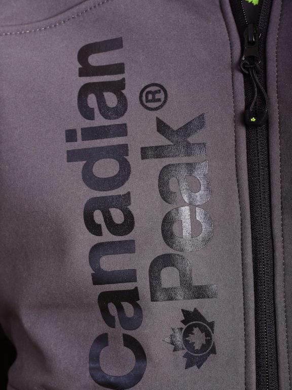 Canadian Peak Softshell jas grijs Tubis afneembare kraag (3)