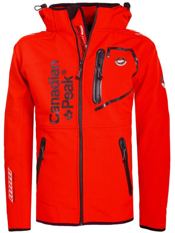 Canadian Peak Softshell jas rood Tubis afneembare kraag (2)
