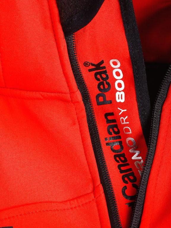 Canadian Peak Softshell jas rood Tubis afneembare kraag (4)