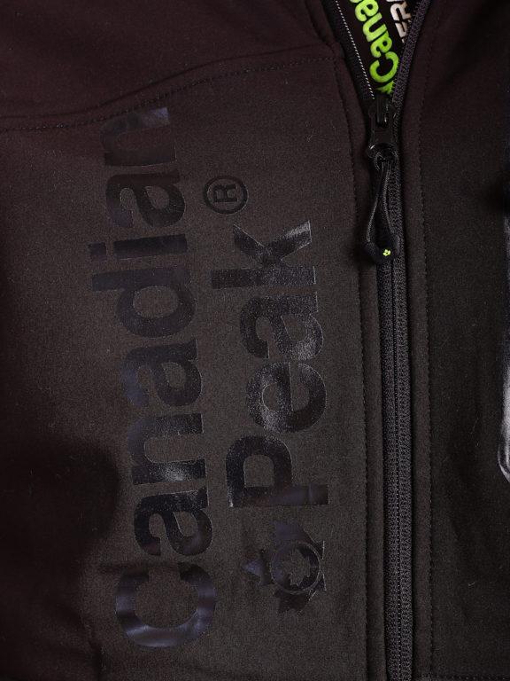 Canadian Peak Softshell jas zwart Tubis afneembare kraag (3)