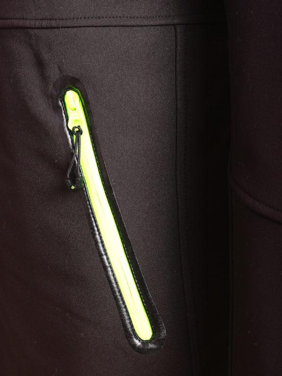 Canadian Peak Softshell jas zwart Tubis afneembare kraag (8)