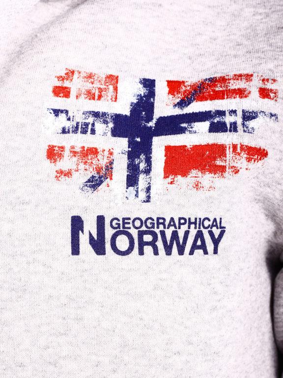 Geographical Norway vest met capuchon en print Grijs Gardon (3)
