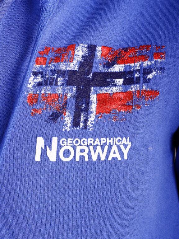 Geographical Norway vest met capuchon en print Kobalt Gardon (3)