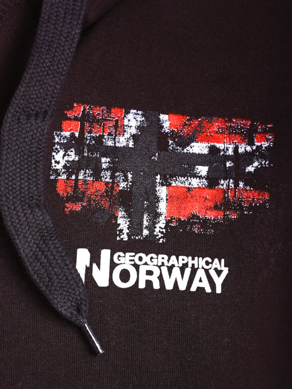 Geographical Norway vest met capuchon en print Zwart Gardon (3)
