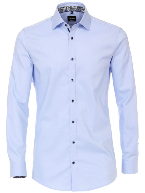 Venti overhemden blauw strijkvrij Body fit 103522400-102 (2)