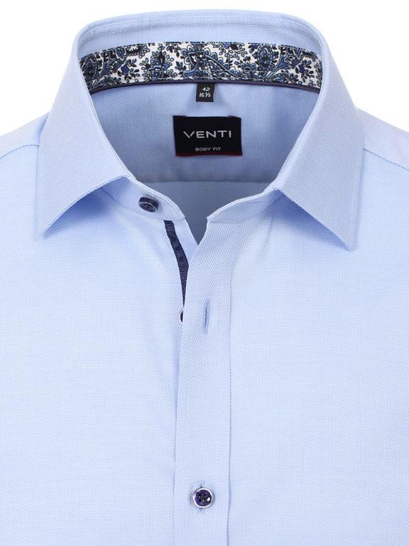 Venti overhemden blauw strijkvrij Body fit 103522400-102 (4)
