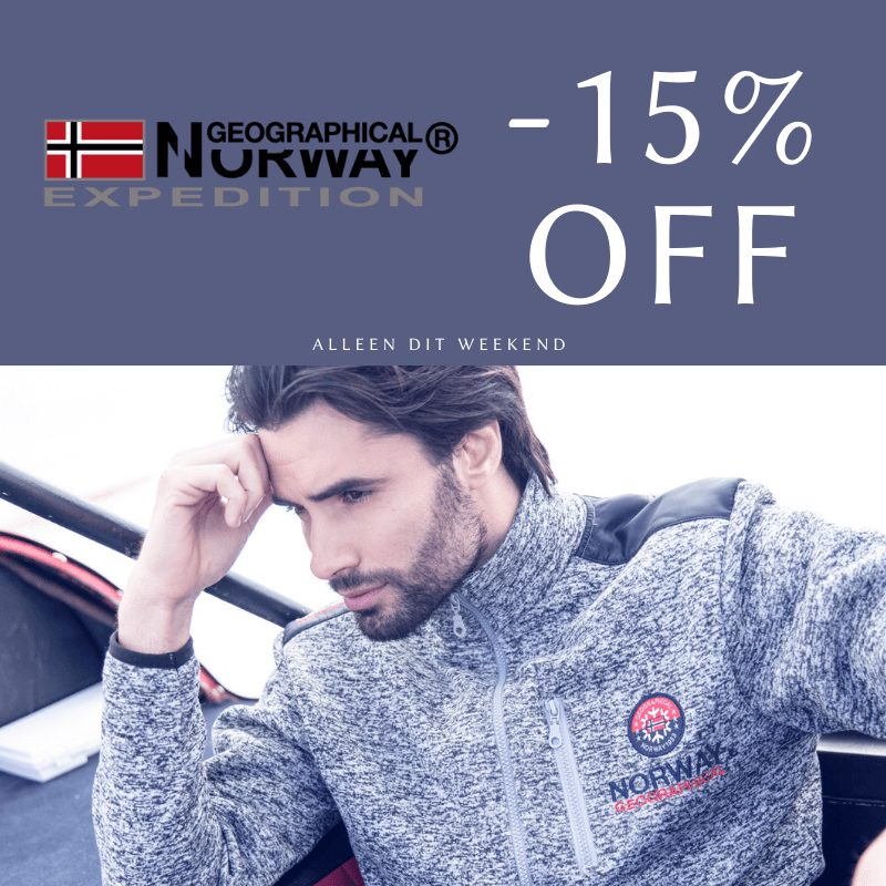 Alle Geographical Norway -15 procent korting Actie