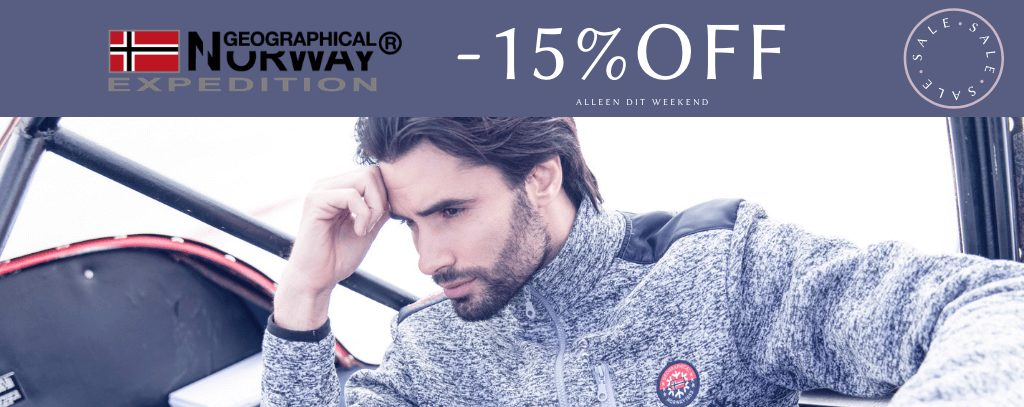 Alle Geographical Norway -15 procent korting homepage
