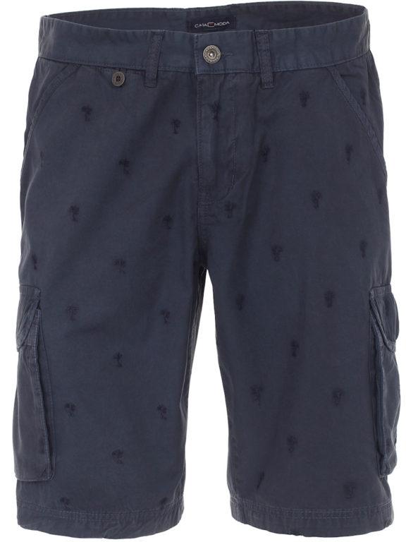 Casa Moda korte broek blauw met palmboom motief bermuda met print 593199200-108 (7)