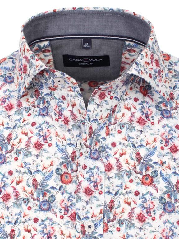 Casa Moda overhemd met bloemenprint rood modern fit kent kraag 413581000 (1)