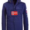Geographical Norway softshell jas met capuchon en stretch blauw Target (6)