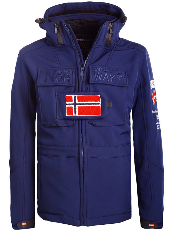 Geographical Norway softshell jas met capuchon en stretch blauw Target (6)