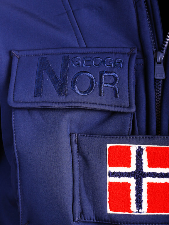Geographical Norway softshell jas met capuchon en stretch blauw Target (7)