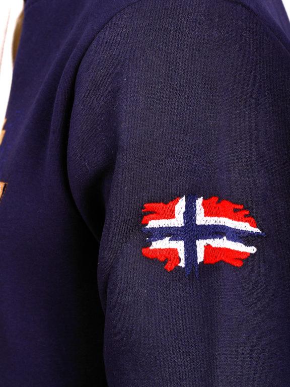 Geographical Norway vest met capuchon blauw Guitre (9)