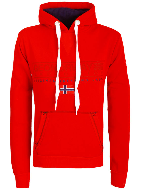Geographical Norway vest met capuchon rood Gasic (2)