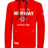 Geographical Norway vest met capuchon rood Guitre (2)