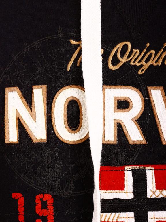 Geographical Norway vest met capuchon zwart Guitre (3)
