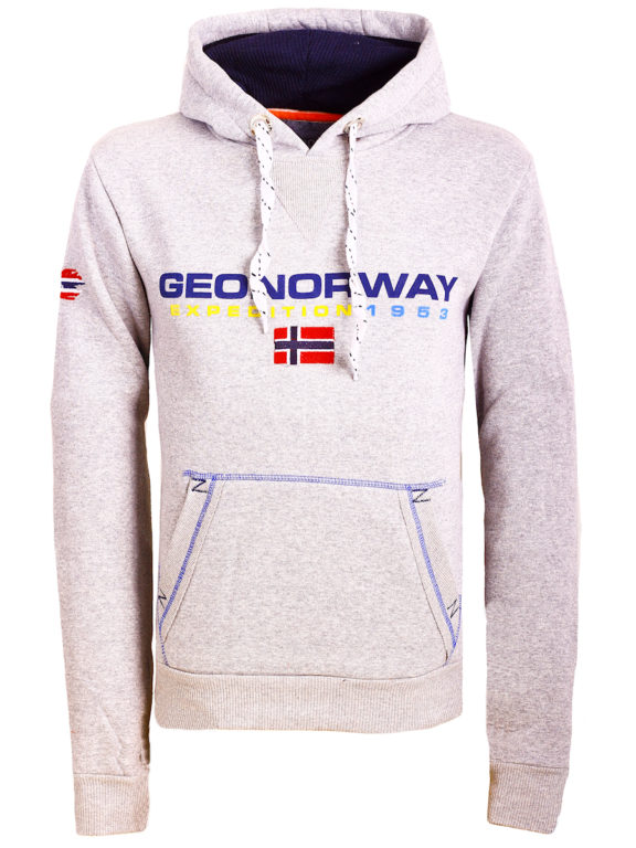 Geographical Norway vesten met capuchon grijs Golivier (2)