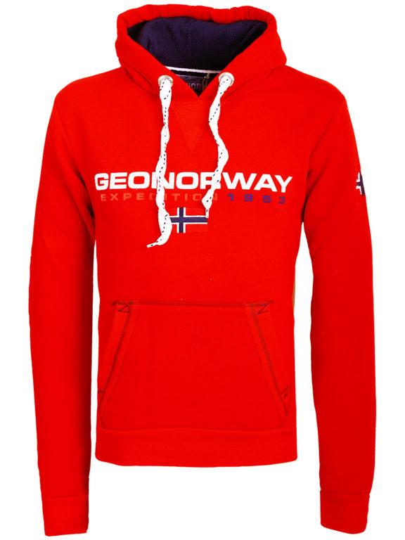 Geographical Norway vesten met capuchon rood Golivier (2)