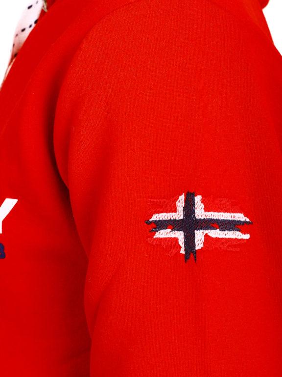 Geographical Norway vesten met capuchon rood Golivier (8)