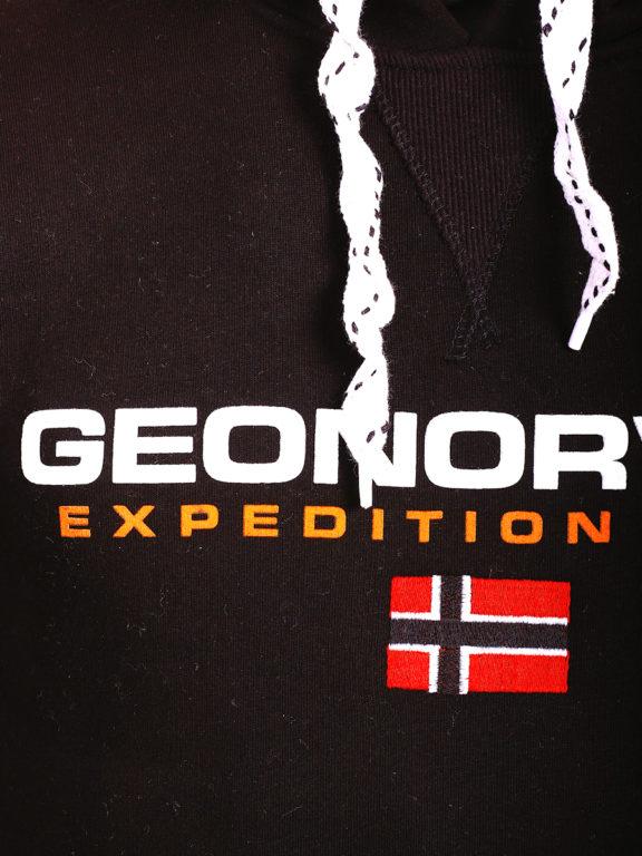 Geographical Norway vesten met capuchon zwart Golivier (3)