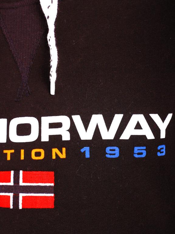 Geographical Norway vesten met capuchon zwart Golivier (4)