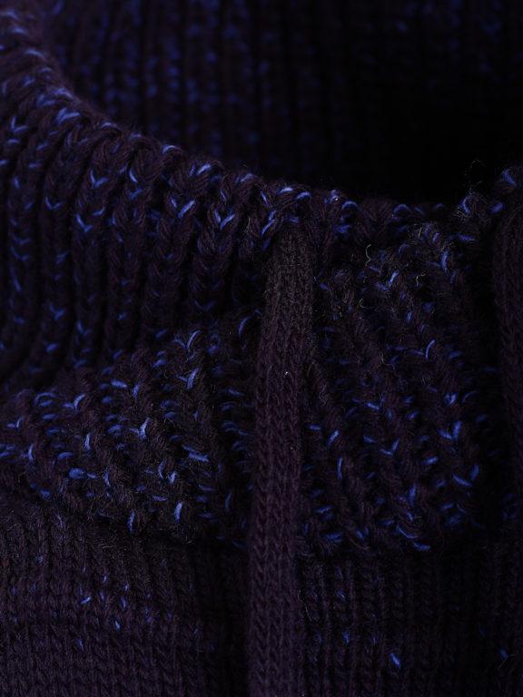 Sjaalkraag trui gebreide truien heren Carisma blauw 7654 (3)