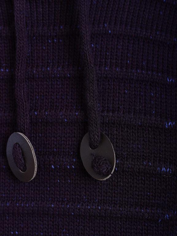 Sjaalkraag trui gebreide truien heren Carisma blauw 7654 (4)