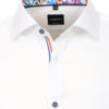 Venti overhemd wit met bloemenkraag body fit kent kraag 113604600 (4)