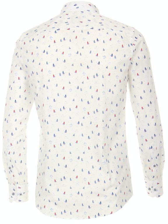 Venti overhemd wit met bootjes motief modern fit nautical shirt 113602800 (4)