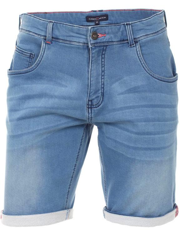 Casa Moda korte broek met stretch blauw 593198500 (2)