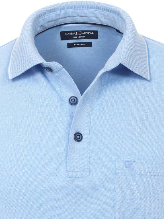 Casa Moda poloshirt blauw melange comfort fit 993106500-102 (3)