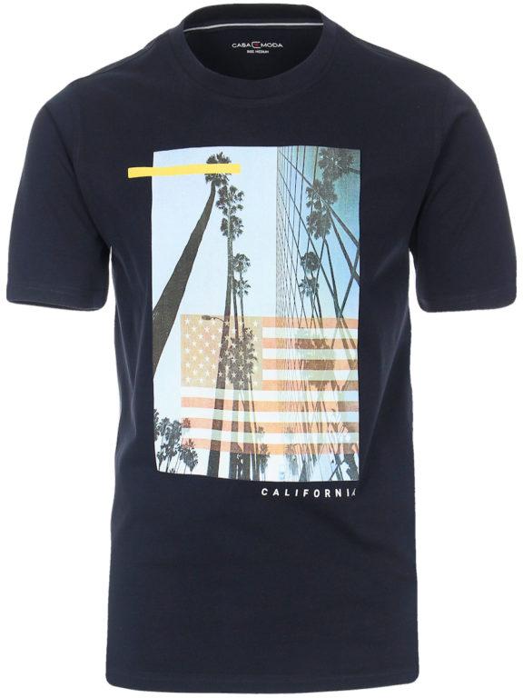 Casa Moda t-shirt Blauw ronde hals west coast California 913594100-108 Bendelli (2)