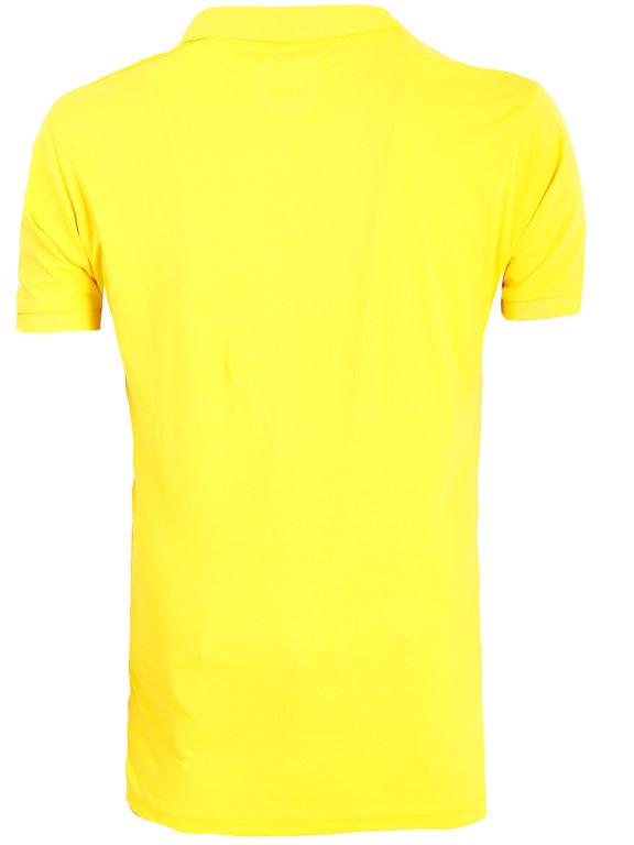 E-bound Polo Shirt Heren Met California Pacific Print Geel 145930.H.PO (1)