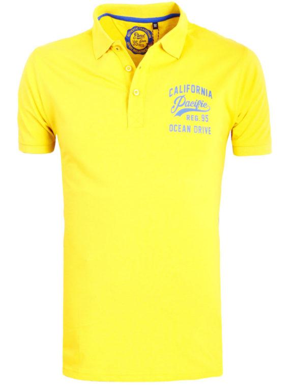 E-bound Polo Shirt Heren Met California Pacific Print Geel 145930.H.PO (2)