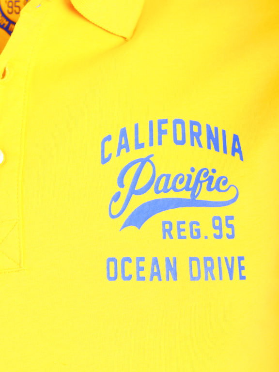 E-bound Polo Shirt Heren Met California Pacific Print Geel 145930.H.PO (4)