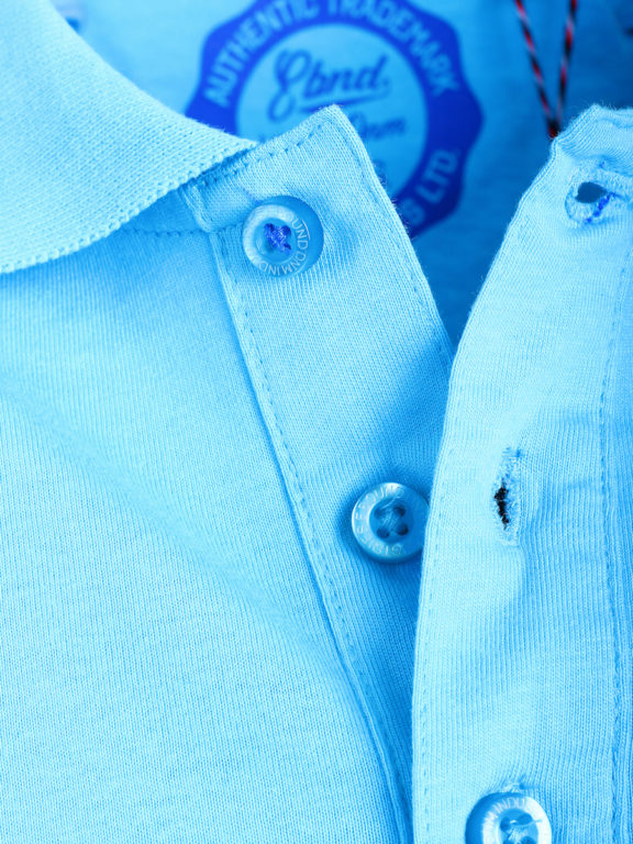 E-bound Polo Shirt Heren Met California Pacific Print Lichtblauw 145930.H.PO (5)