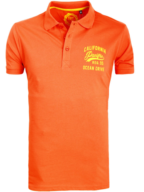 E-bound Polo Shirt Heren Met California Pacific Print Rood 145930.H.PO (6)