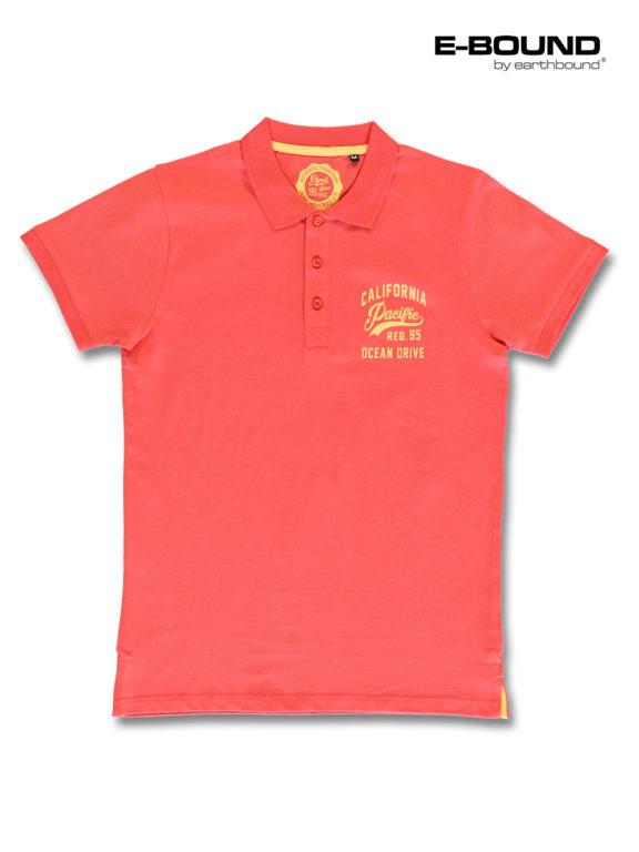 E-bound Polo Shirt Heren Met California Pacific Print Rood 145930.H.PO (7)