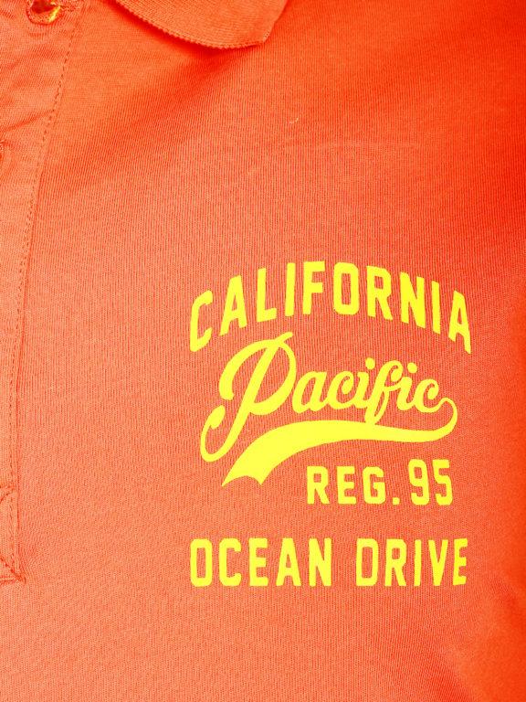 E-bound Polo Shirt Heren Met California Pacific Print Rood 145930.H.PO (8)