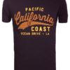 E-bound T-shirt Heren Met California Pacific Print Zwart 145443.H.TS (9)
