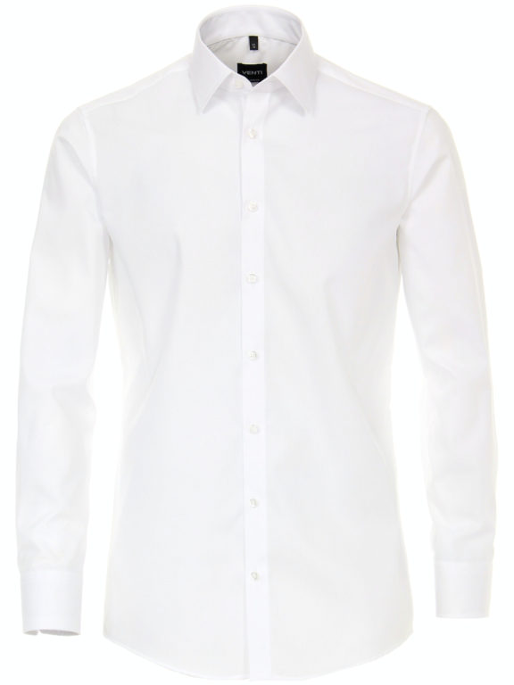 Venti Heren Overhemd Wit Strijkvrij Slim Fit Poplin 1480 (2)