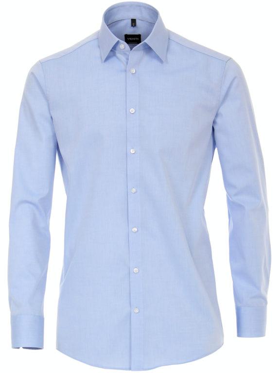 Venti overhemd blauw Modern fit strijkvrij kent kraag basis blouse 001480-115 (3)